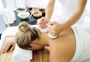 massage with grapeseed oil
